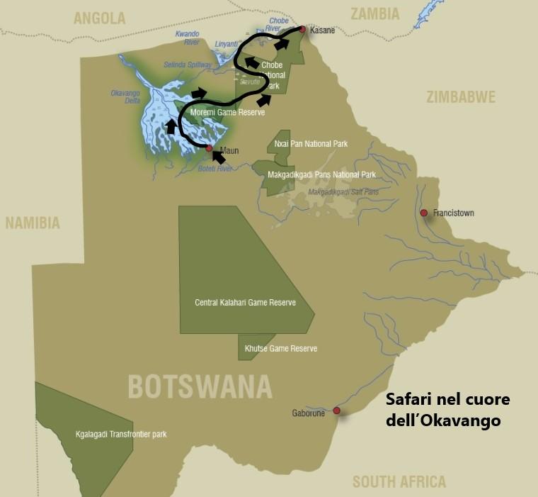Safari nel cuore del Botswana